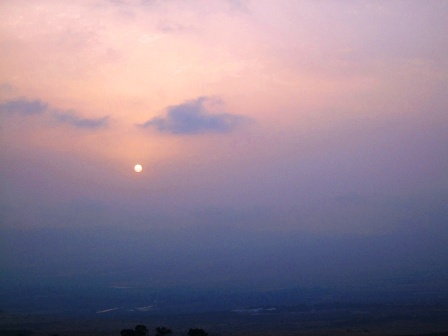 Sunset in the Golan Heights