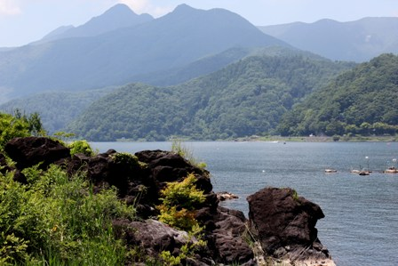 On the shores of Kawaguchiko Lake