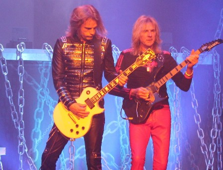 the new Judas Priest par of axemen: Richie Faulkner and Glenn Tipton