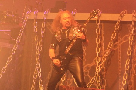 Ian Hill on bass - Judas Priest live in Paris