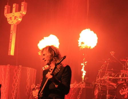 Flames on the Judas Priest stage
