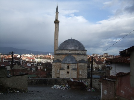 Sinan Pasha Mosque from the hill. Prizren, Kosovo