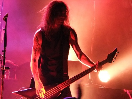 Christian Giesler with Kreator in Paris