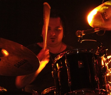 Chad Stewart on drums with L.A. Guns live in Savigny Le Temple, near Paris