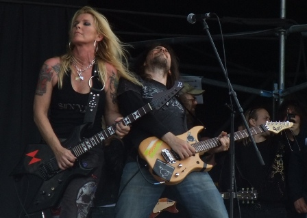 Lita Ford and Ron Thal live at the Gods Of Metal festival in Monza, near Milan