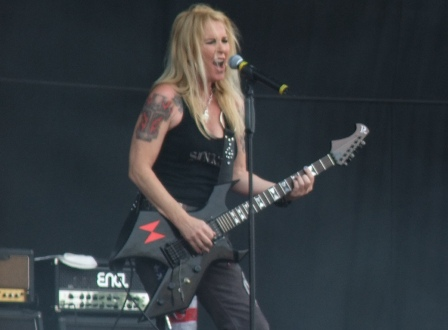 Lita Ford live at the Gods Of Metal festival in Monza, near Milan