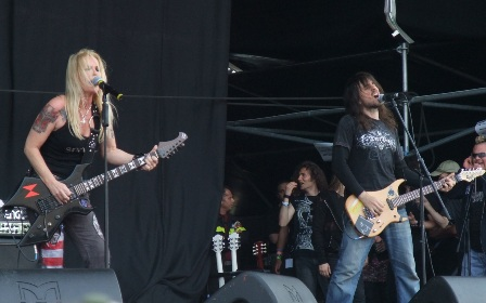 Lita Ford and Bumblefoot live at the Gods Of Metal festival in Monza, near Milan