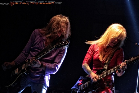 Lita Ford and Mitch Perry
