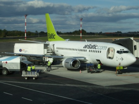 Air Baltic Boeing 737 in Vilnius