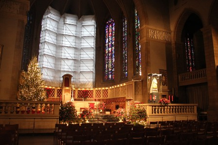Christmas inside Luxemburg's cathedral
