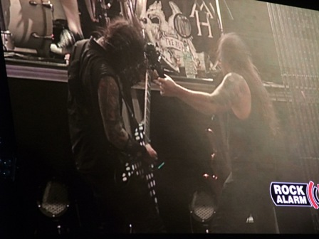 Machine Head from the TV screens in Wacken