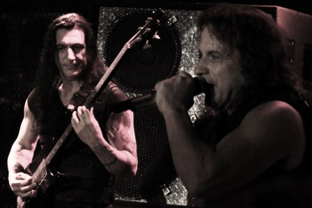Joey DeMaio and Eric Adams from ManOwaR live in Paris