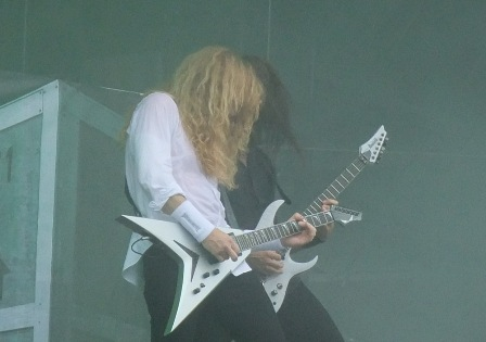 A great guitar duo: Chris Broderick and Dave Mustaine