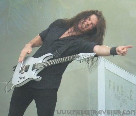 Chris Broderick of Megadeth live at Romexpo in Bucharest