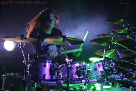 Shawn Drover on drums with Megadeth