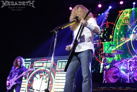 Dave Mustaine and David Ellefson with Megadeth live in Bogotá