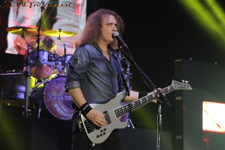 David Ellefson with Megadeth in Colombia