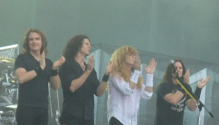 The Big Four of Megadeth: David Ellefson, Chris Broderick, Dave Mustaine and Shawn Drover