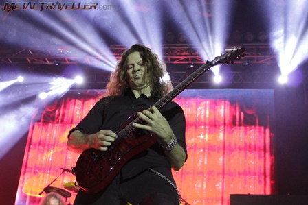 Chris Broderick from Megadeth on stage in Bogotá