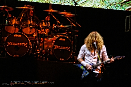 Shawn Drover and Dave Mustainelive with Megadeth