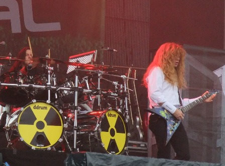 Shawn Drover and Dave Mustaine at Tuborg Green Fest