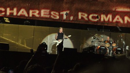Bucharest Romania, comes Metallica!