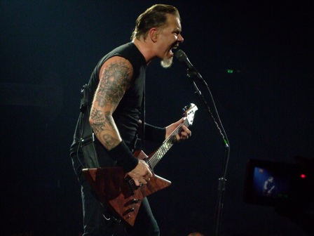 James Hetfield from Metallica live in Vienna, May 14 2009