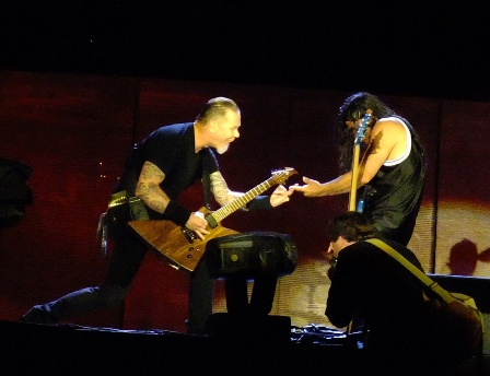 James and Robert from Metallica in Hockenheim - July 4 2009