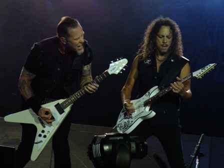 James and Kirk from Metallica in Werchter - July 5 2009