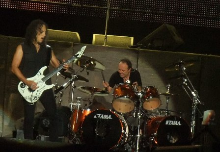 Kirk and Lars - Metallica at the Big Four Festival in Romania