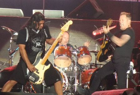 Robert, Mars and James - Metallica live at Romexpo in Bucharest