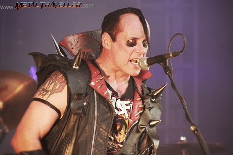 Hellfest: Jerry Only from The Misfits on stage in Clisson