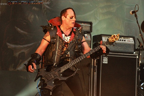 Jerry Only from The Misfits, live in Clisson