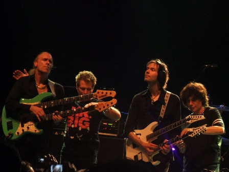 Mr Big: Billy, Pat, Paul and Eric - The whole band playing double-necked guitars and basses
