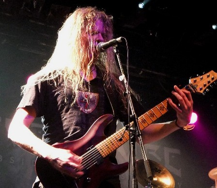 Jeff Loomis on lead guitars with Nevermore