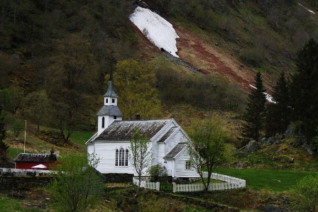 The church of Bakka in Norway