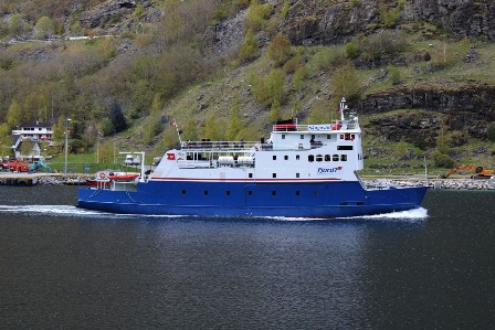 The ferry from Flåm to Gudvangen
