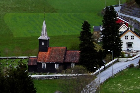 The church of Flåm