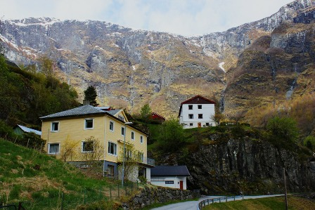 Houses in the town of Flåm