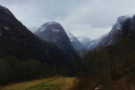 Mountains near Gudvangen, on the way to Voss