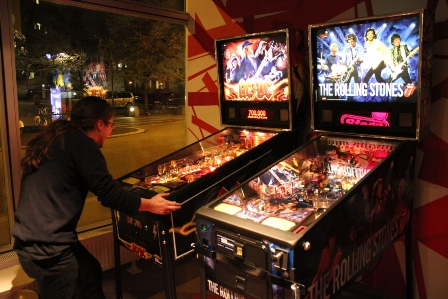 AC/DC and Rolling Stones Pinball