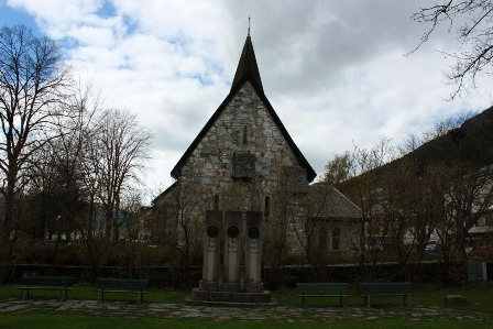 The Voss stone church