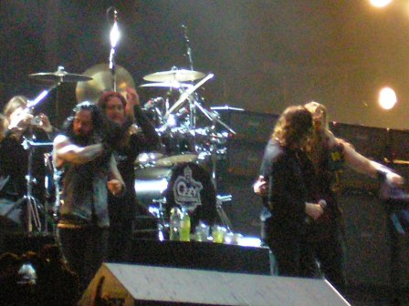 Ozzy Osbourne band greeting the Graspop crowds