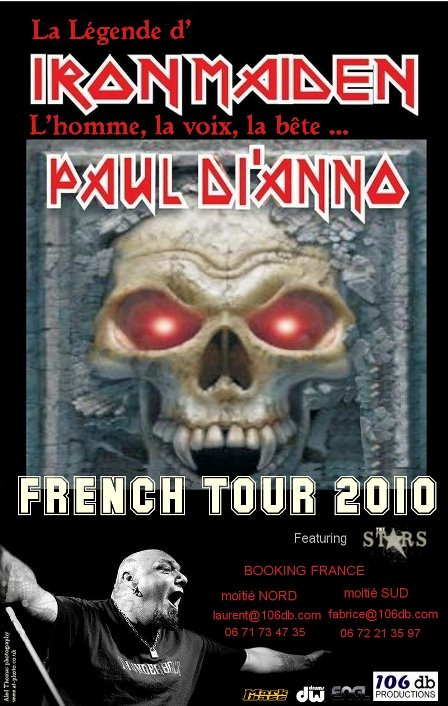 Poster and flyer for Paul Di Anno French Tour