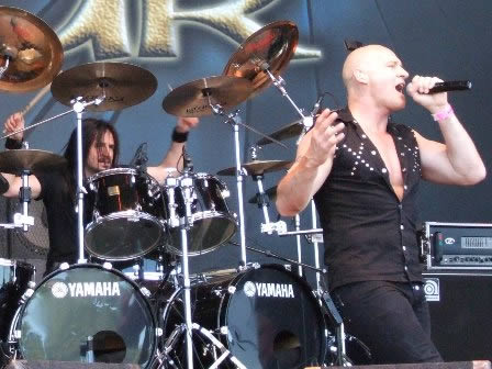 Randy Black and Ralph Schepers from Primal Fear, live in Sweden