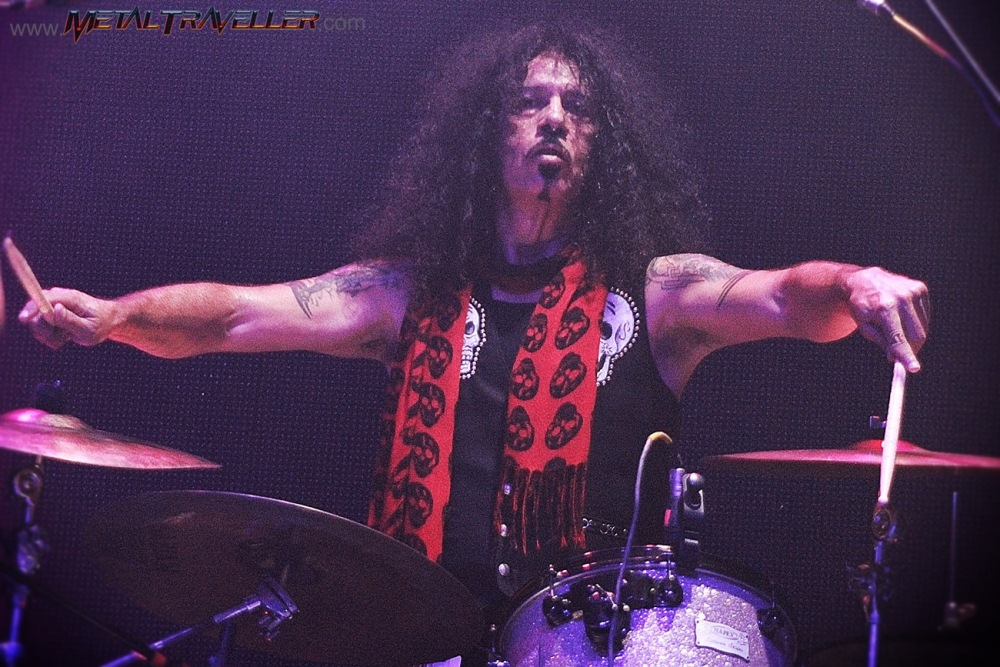 Frankie Banali from Quiet Riot, Bang Your Head Tour live in Colombia