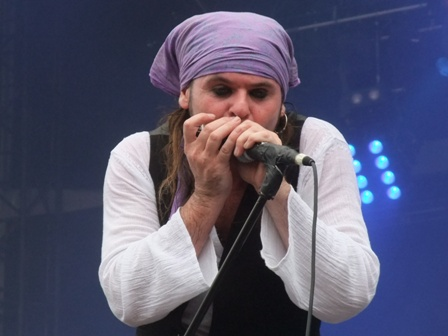 Spike and harmonica - The Quireboys live in Balingen