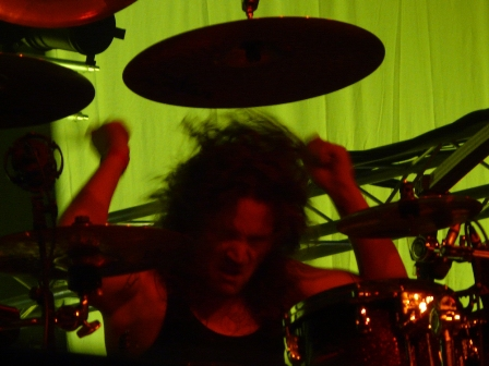 André Hilgers hitting the drums with Rage