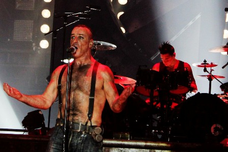 Rammstein playing in Paris Bercy