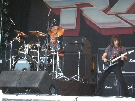 Bobby Blotzer and Warren DeMartini from Ratt Live at the Sweden Rock Festival 2008